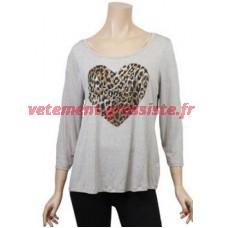 Übergrößen-Shirt (Leopard)