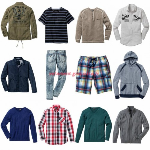 Vêtements paquet mixte hommes - T-shirts Vestes Chemises Pulls Sweats etc