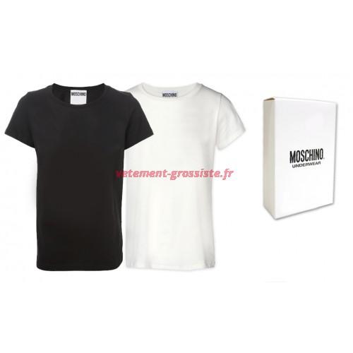 Moschino T-shirt homme mélange noir et blanc