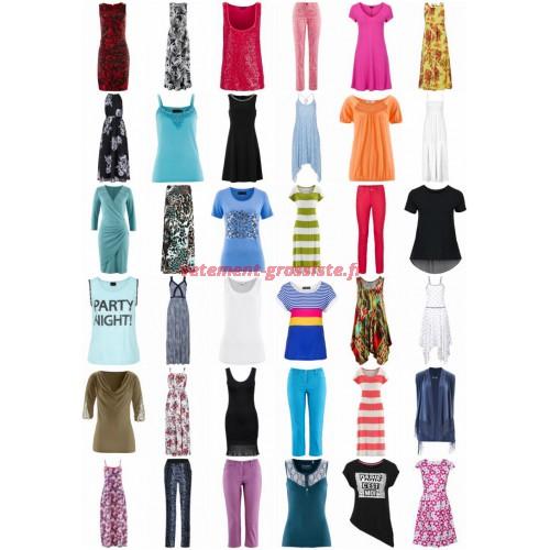 Vêtements d'été stocklots - Chemises Hauts Pantalons Robes Tuniques T-Shirts