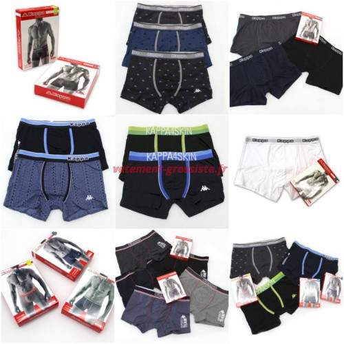 Kappa Boxer Shorts mix Sous-vêtements pour hommes