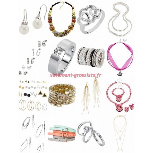 Accessoires Mix - Boucles doreilles bracelet chaîne ceintures anneaux