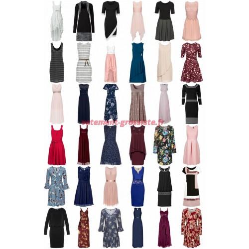 Femmes Robes Mix Shirt Robe Robe dété Robe de soirée Robe maxi Robe en jersey Dentelle Robe de plag