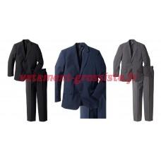 Combinaisons de costume daffaires des hommes restant Mélanger ensemble de 2 pantalons Blazer