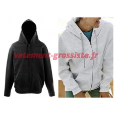 Fruit of the Loom Hommes Femmes Uni Zip Hoodie Zipper Pullover Hoodie Pullover Mix