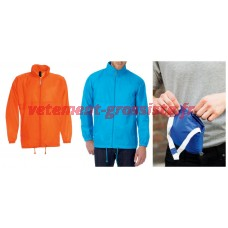 Veste de pluie pour hommes Orange avec capuche