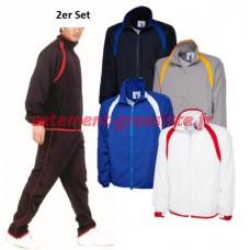 Survêtement de sport pour hommes Combinaison de loisir Pantalon de sport Veste Ensemble de 2