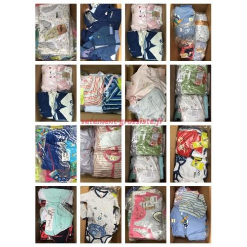 Textiles pour bébés Stocklots Grandes quantités de palettes pour vêtements de bébé