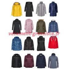 Dames Plus Size Fashion Vestes grande taille Blazers Manteau Grandes tailles Mélange de stock restan