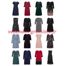 Dames Plus Size Fashion Robes Taille Plus Mélange Reste