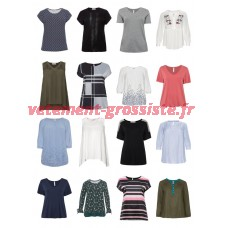 T-shirts à la mode pour femmes, grande taille, plus la taille Tops Blouses Grandes tailles