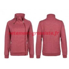 Dames Sublevel Veste Sweat Veste Automne Zipper Rouge Marron Noir
