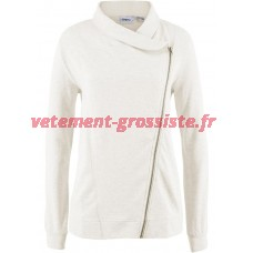 Dames sweat biker veste sweat veste col châle