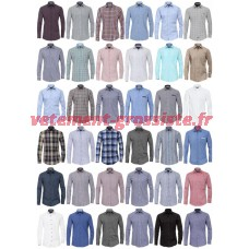 Hommes Chemises Marques Chemise Manches Longues Business Casual Mix
