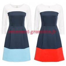 Robe pour femme avec des couleurs de bloc robes 2 couleurs