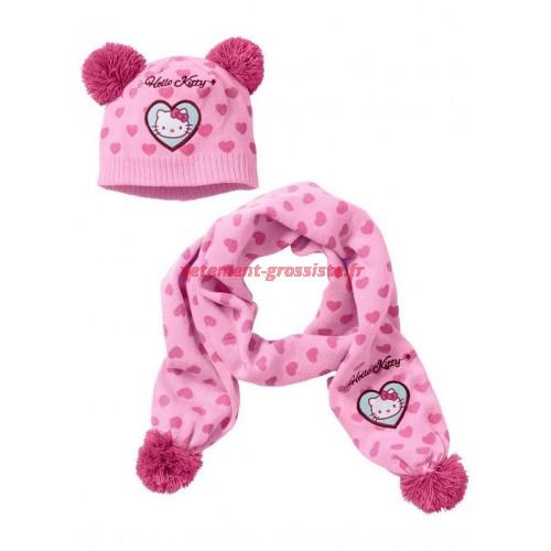Enfants Hello Kitty Echarpe Chapeau Fille