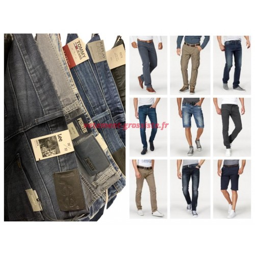 Jeans Hommes Mix Mix Replay Tommy Hilfiger Lee Tailleur etc
