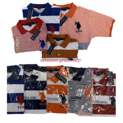 US Polo Assn. Polo homme polo brand shirt mix