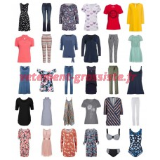 Vêtements dété femme restant stock fashion mix