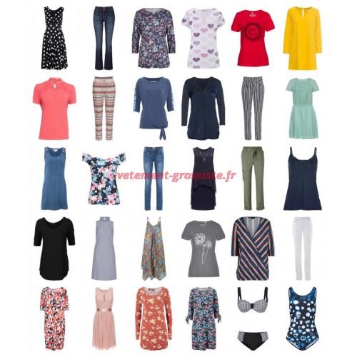Vêtements dété femme restant stock fashion mix