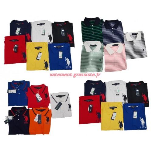 US Polo Assn. Poloshirt Uni Stripped Men Polos Brand Shirt Mix